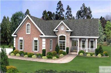 3-Bedroom, 1898 Sq Ft Country Home Plan - 109-1011 - Main Exterior
