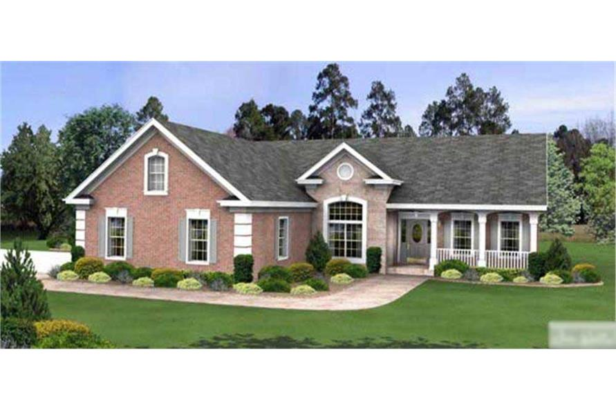 This is a computer rendering of these Ranch Homeplans.