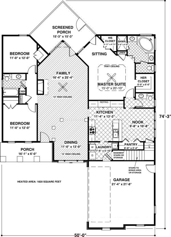 109-1013 house plan main floor plan
