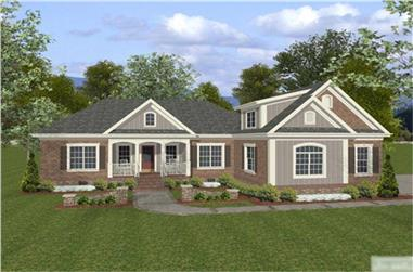 4-Bedroom, 1800 Sq Ft Craftsman House Plan - 109-1015 - Front Exterior