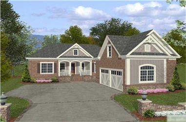 4-Bedroom, 1800 Sq Ft Country House Plan - 109-1016 - Front Exterior