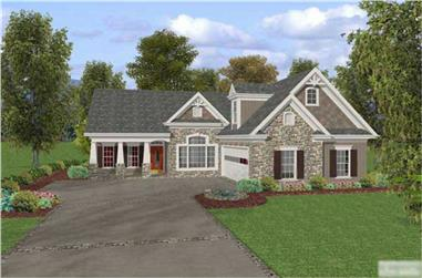 3-Bedroom, 1820 Sq Ft Craftsman House Plan - 109-1017 - Front Exterior