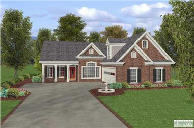 3-Bedroom, 1831 Sq Ft Country House Plan - 109-1018 - Front Exterior