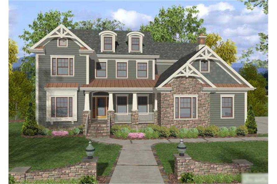 4-Bedroom, 2964 Sq Ft Country House Plan - 109-1019 - Front Exterior
