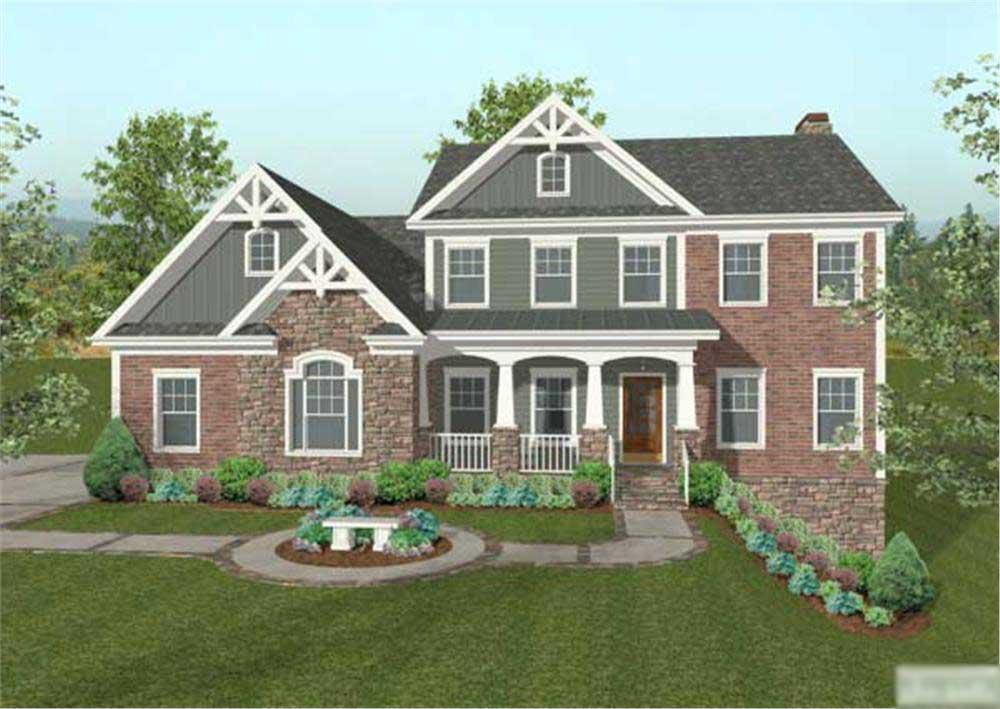 This is a very nice front rendering of these European Homeplans.