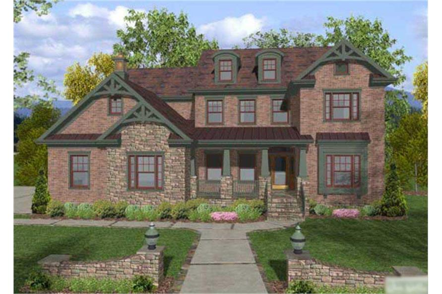 4-Bedroom, 2964 Sq Ft Craftsman Home Plan - 109-1022 - Main Exterior