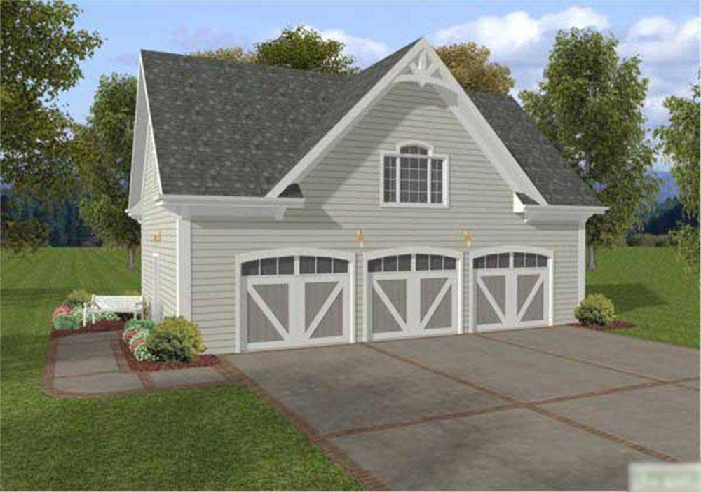 Front elevation of Garage home (ThePlanCollection: House Plan #109-1024)