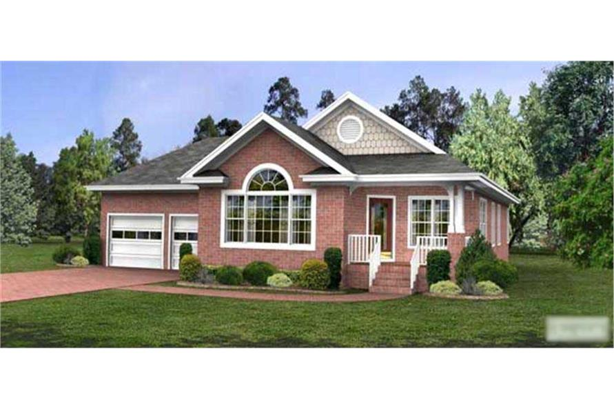 This image is a colorful computer rendering of these Bungalow Homeplans.