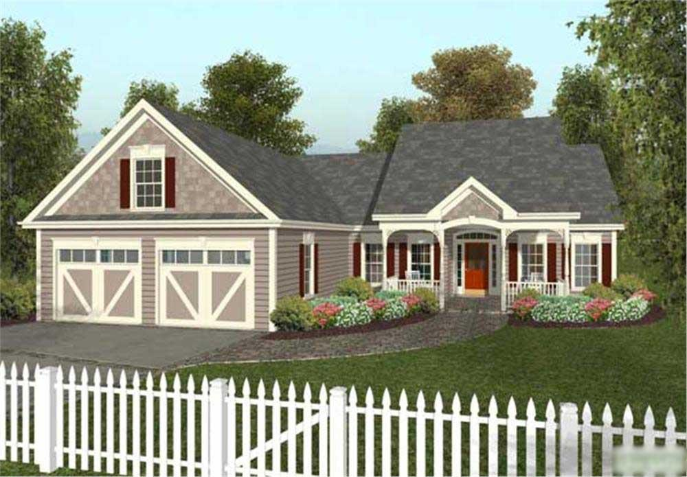 Computer rendering of Country Home Plan #109-1028