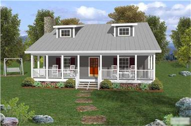 Front elevation of Country home (ThePlanCollection: House Plan #109-1029)