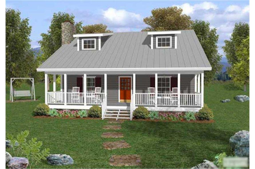 3-Bedroom, 1334 Sq Ft Country House Plan - 109-1029 - Front Exterior