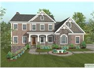 This image shows the front elevation of these Craftsman House Plans.