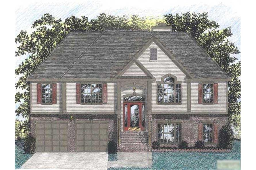 3-Bedroom, 1459 Sq Ft European House Plan - 109-1031 - Front Exterior