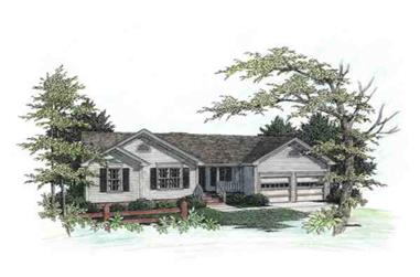 3-Bedroom, 1069 Sq Ft Country House Plan - 109-1032 - Front Exterior