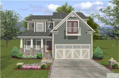 3-Bedroom, 2098 Sq Ft Craftsman Home Plan - 109-1033 - Main Exterior