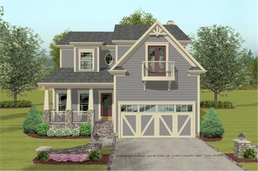 Front View of this 3-Bedroom,2058 Sq Ft Plan -109-1033