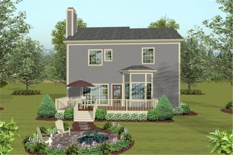 Rear View of this 3-Bedroom,2058 Sq Ft Plan -109-1033