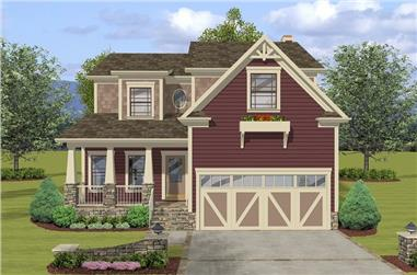 3-Bedroom, 2098 Sq Ft Craftsman Home Plan - 109-1033 - Main Exterior