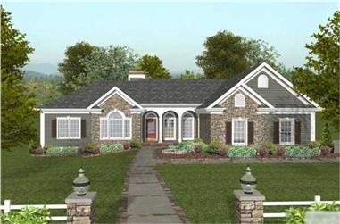 3-Bedroom, 1992 Sq Ft Country Home Plan - 109-1037 - Main Exterior