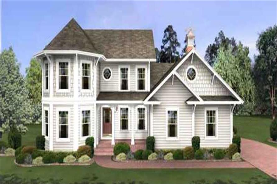 4-Bedroom, 1897 Sq Ft Traditional Home Plan - 109-1040 - Main Exterior