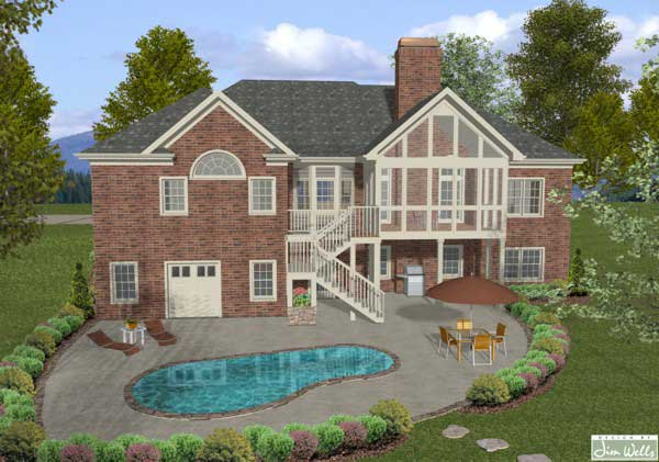 Ranch Home Plan 4 Bedrms 2 5 Baths 2000 Sq Ft 109 1042