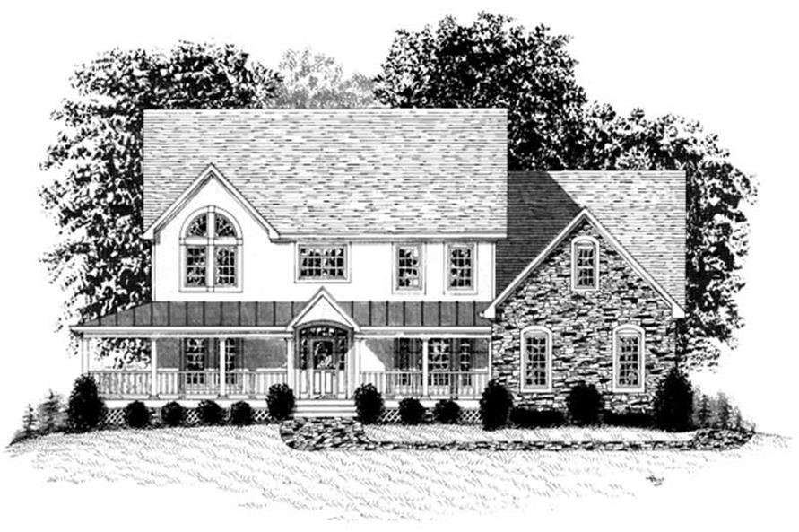 3-Bedroom, 3507 Sq Ft Country House Plan - 109-1043 - Front Exterior