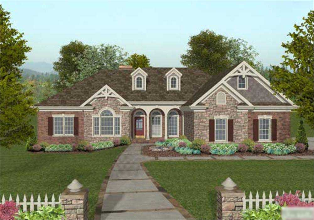Craftsman home with 4 bedrms 2000 sq ft floor plan 109 for Stone house floor plans