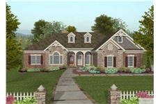 This is a color rendering of these Craftsman Home Plans.