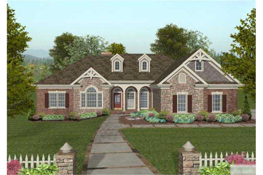 4-Bedroom, 2000 Sq Ft Craftsman House Plan - 109-1047 - Front Exterior