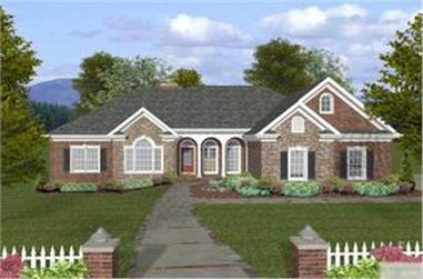 4-Bedroom, 2000 Sq Ft Ranch House Plan - 109-1048 - Front Exterior