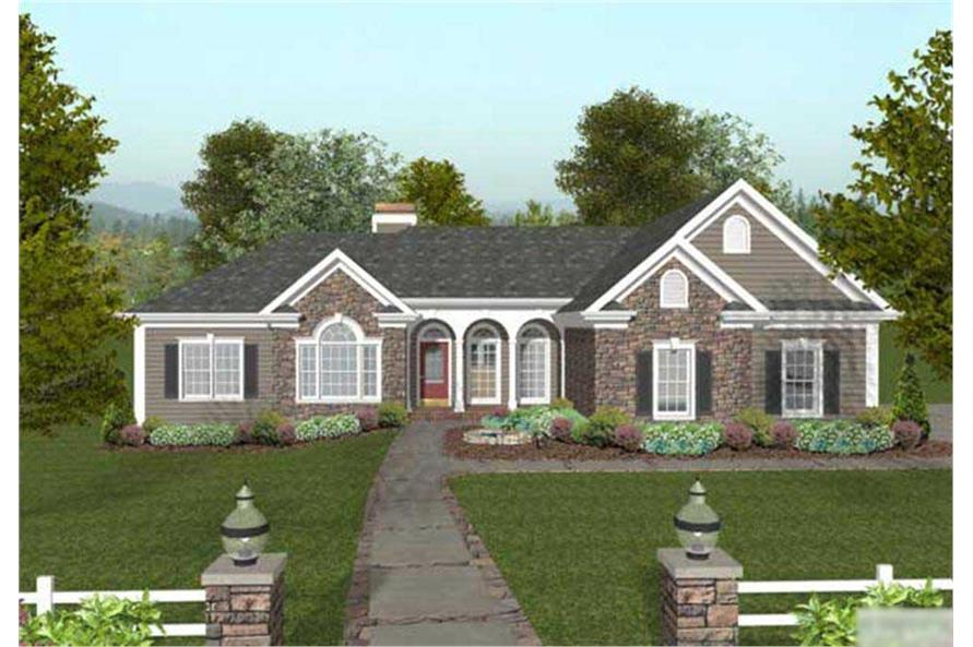 4-Bedroom, 2000 Sq Ft Country Home Plan - 109-1049 - Main Exterior