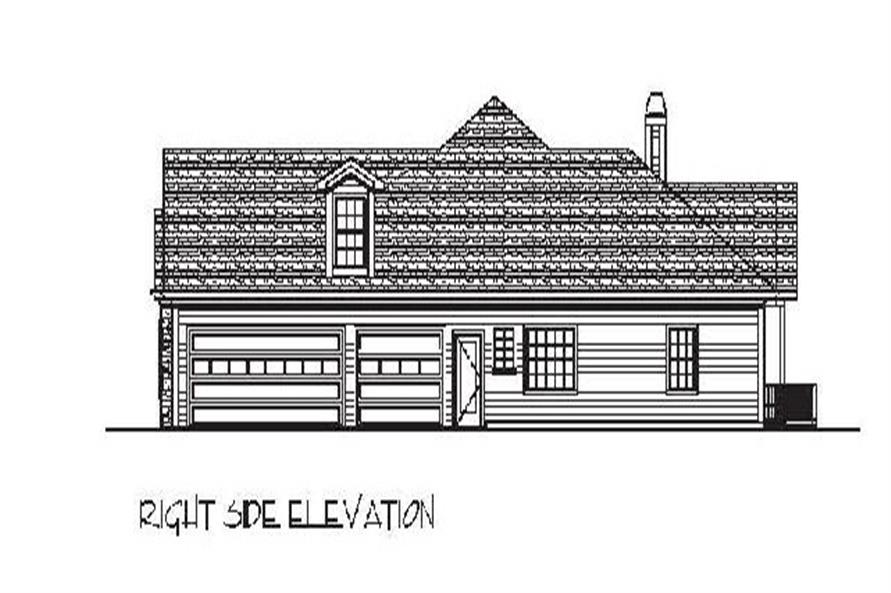 Home Plan Right Elevation of this 4-Bedroom,2000 Sq Ft Plan -109-1049