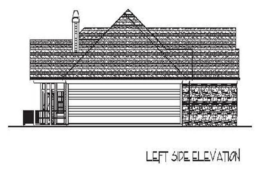 Home Plan Left Elevation of this 4-Bedroom,2000 Sq Ft Plan -109-1049