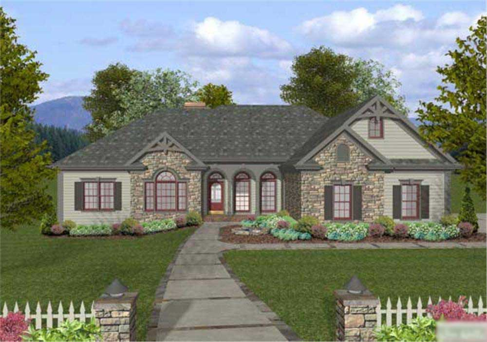 Craftsman home with 4 bedrms 2000 sq ft house plan 109 for House plans for 2000 sq ft ranch