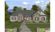 This is the final front elevation of this category of Ranch Houseplans.