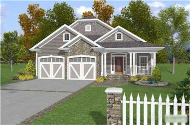 3-Bedroom, 2296 Sq Ft Cape Cod House Plan - 109-1052 - Front Exterior
