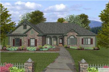 4-Bedroom, 2000 Sq Ft Craftsman House Plan - 109-1053 - Front Exterior