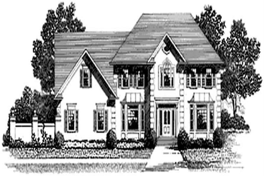 3-Bedroom, 2300 Sq Ft European Home Plan - 109-1054 - Main Exterior