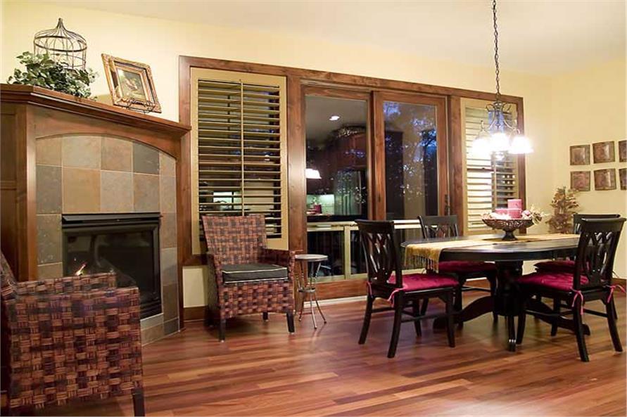 109-1056: Home Interior Photograph-Kitchen: Breakfast Nook