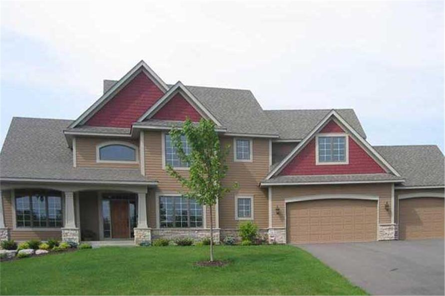 4-Bedroom, 3159 Sq Ft Country Home Plan - 109-1059 - Main Exterior