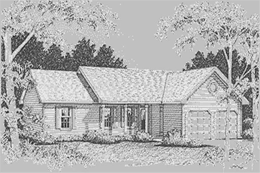 Home Plan Rendering of this 3-Bedroom,1414 Sq Ft Plan -109-1061