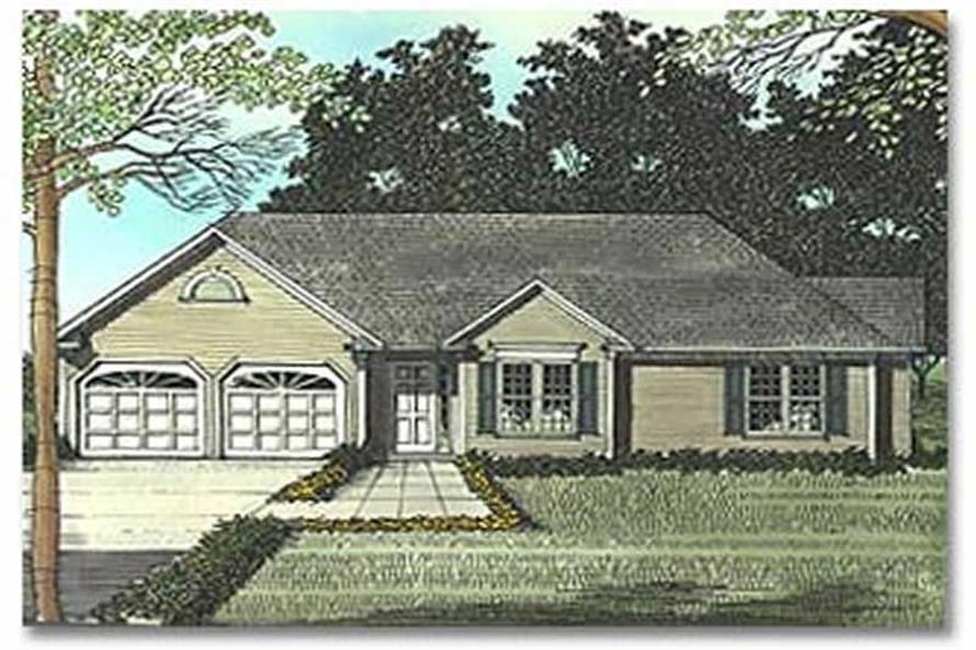 Home Plan Rendering of this 3-Bedroom,1477 Sq Ft Plan -109-1064