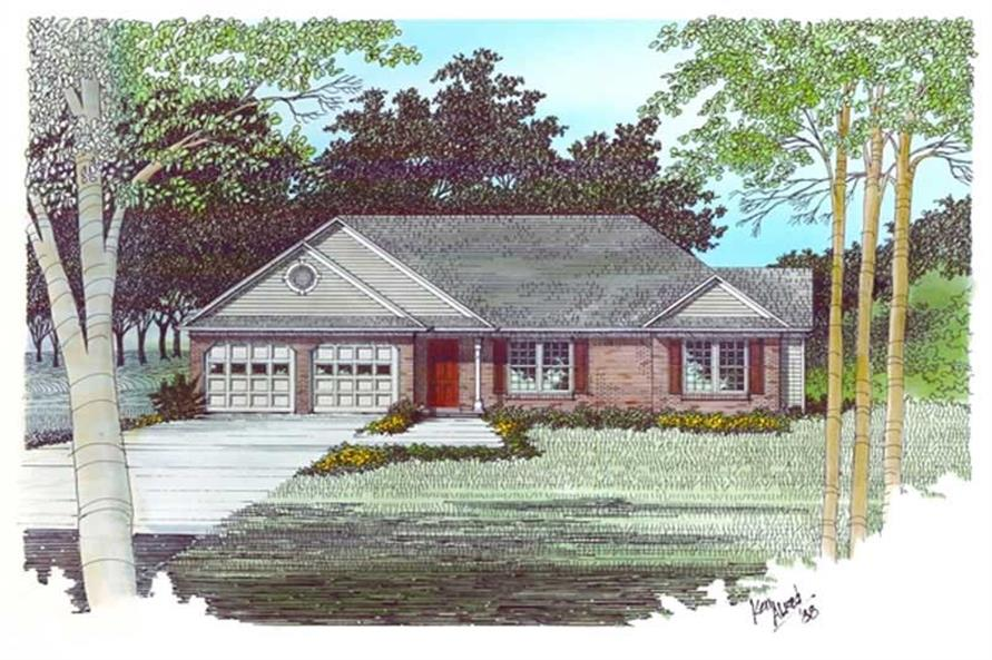 3-Bedroom, 1477 Sq Ft Small House Plans - 109-1064 - Front Exterior