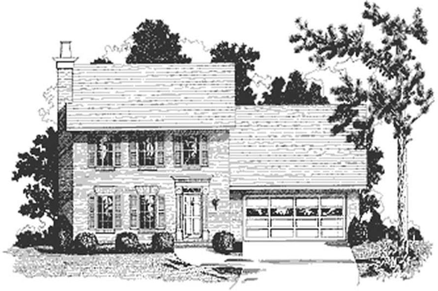 4-Bedroom, 1339 Sq Ft Small House Plans - 109-1065 - Front Exterior
