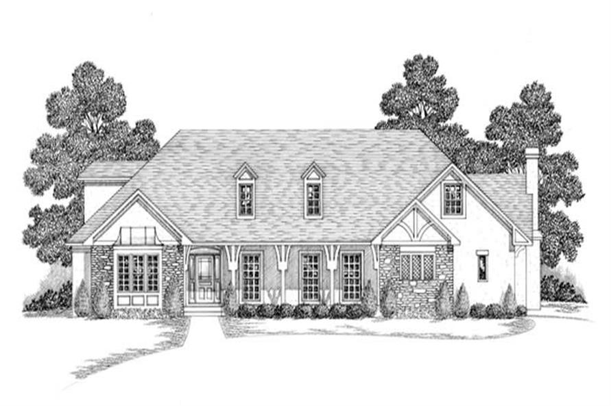 4-Bedroom, 3943 Sq Ft Craftsman Home Plan - 109-1070 - Main Exterior