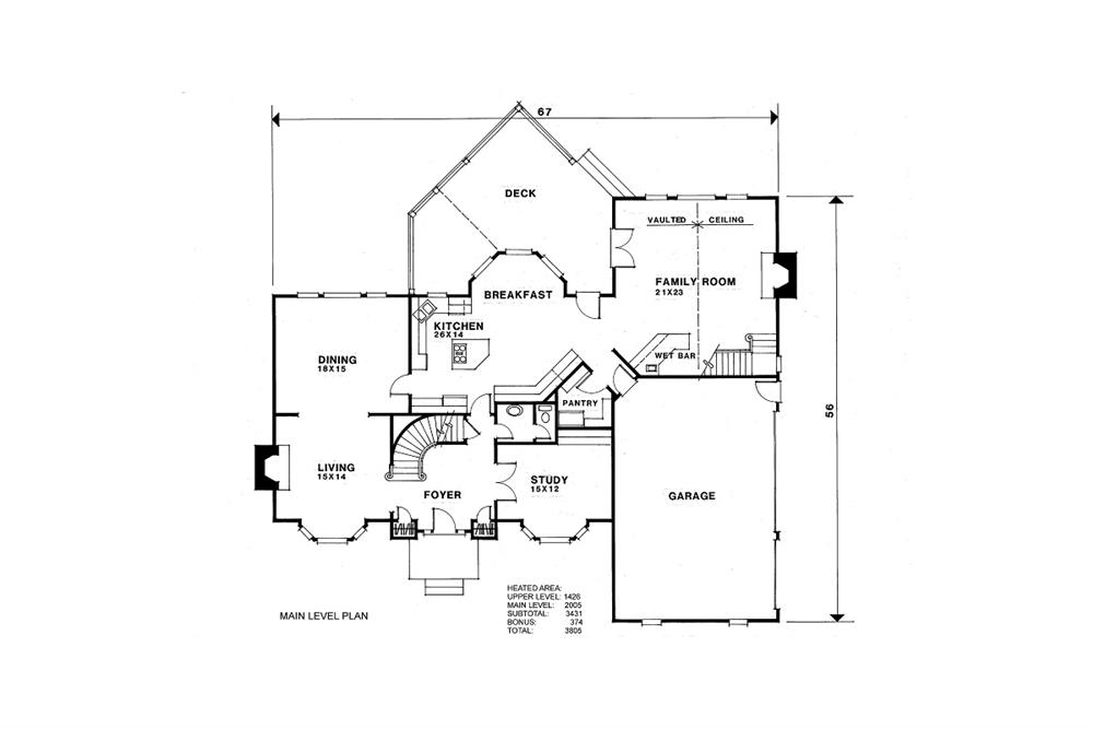 109-1074 house plan first floor