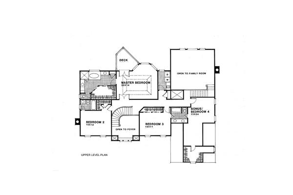 109-1074 house plan second floor