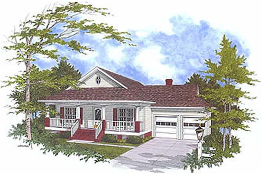 3-Bedroom, 1770 Sq Ft Country Home Plan - 109-1076 - Main Exterior