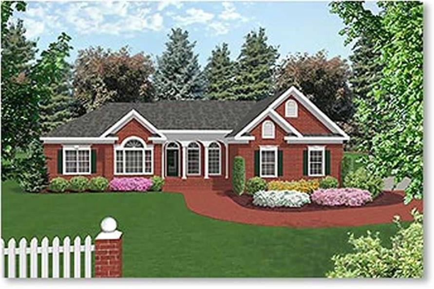 3-Bedroom, 1992 Sq Ft Colonial House Plan - 109-1079 - Front Exterior