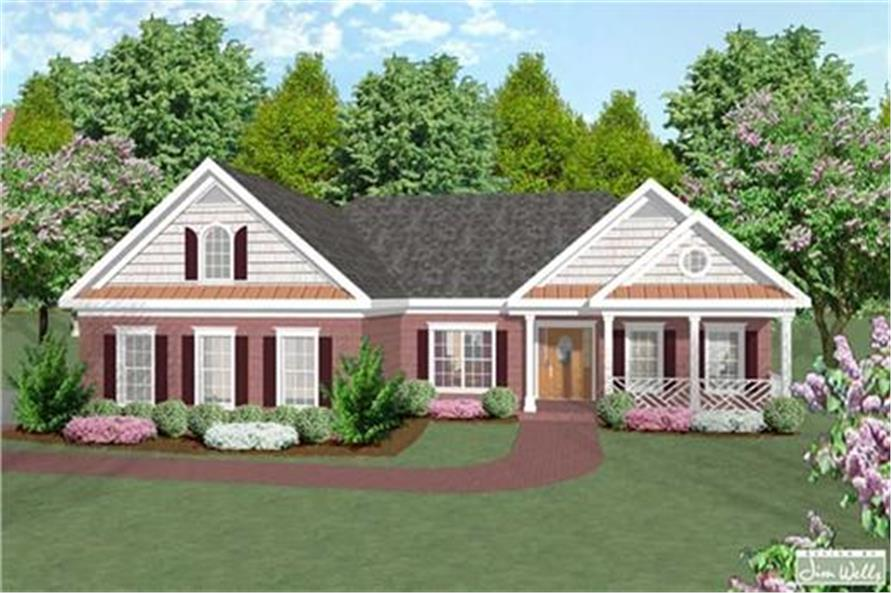 Home Plan Rendering of this 3-Bedroom,1787 Sq Ft Plan -109-1086